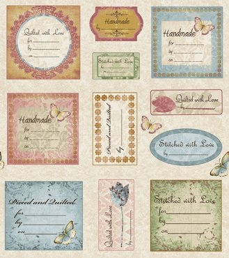 Blank quilting Simple Pleasures labels