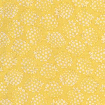 Lecien Old New Fabric geel met aardbei