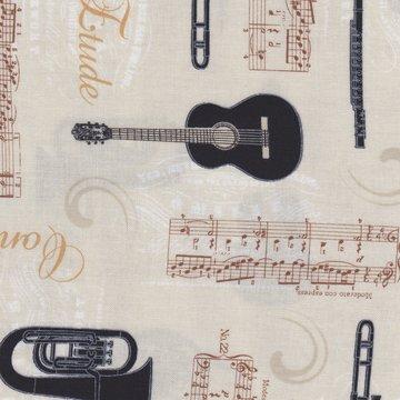 Stof a/s Allegro ecru instrumenten