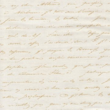 Robert Kaufman Le Jardin Parisien ecru letters