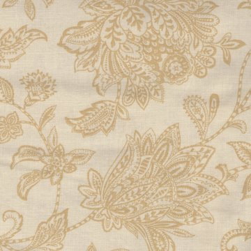 P&B textiles ecru met antieke bloem dubbelbreed