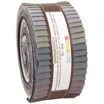 Robert Kaufman Roll-Up grijs (jelly roll)