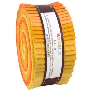 Robert Kaufman Roll-Up geel (jelly roll)
