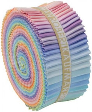 Robert Kaufman Roll-Up Pastel Palette (jelly roll)