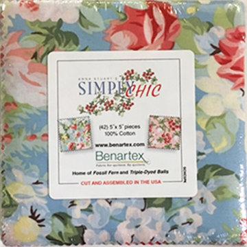 Benartex Simply Chic Charm Pack 5