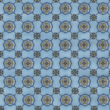 Robert Kaufman La Provence blauw figuurtje