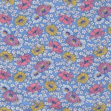 Washington Street Studio Vintage 30's Florals blauw met bloemen