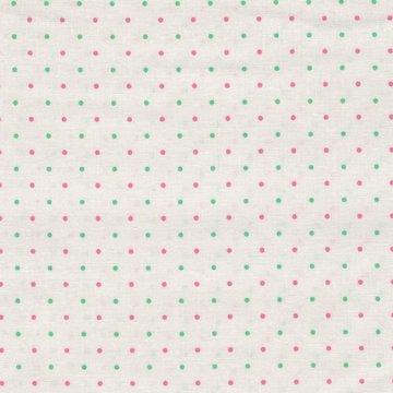 Penny Rose Fabrics Lily wit met roze en groen stipje