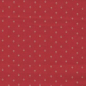 Windham Fabrics Centennial Shirtings rood ecru pijltje