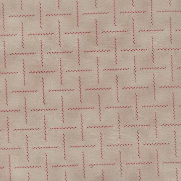 Windham Fabrics Riverbanks ecru rood werkje
