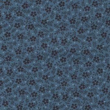 Andover Blue Sky blauw donker bloemetje