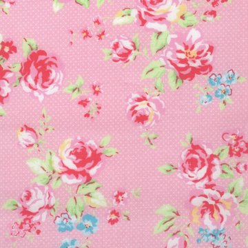 Lecien Antique Flower Collection in Pastel roze roos