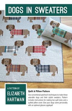 Patroon: Dogs in sweaters, Elizabeth Hartman