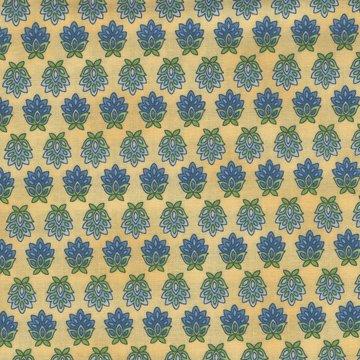 Robert Kaufman La Provence geel met blauw figuurtje