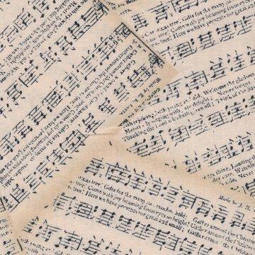 Wilmington Prints Angel Song ecru muzieknoten