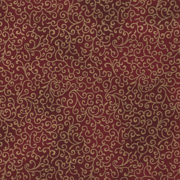 Hoffman California Winter Magic rood goud scroll