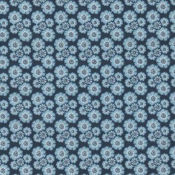 Eyelike Fabrics Hindelopia blauw met blauwe bloemetjes