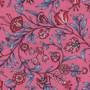 Eyelike Fabrics Hindelopia roze met blauwe tak