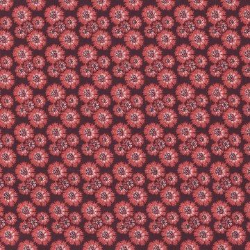 Eyelike Fabrics Hindelopia rood bloemetje