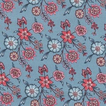 Eyelike Fabrics Hindelopia blauw bloem