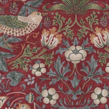 Free Spirit / Morris & co. Kelmscott rood strawberry thief groot