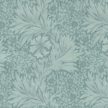 Free Spirit / Morris & co. Kelmscott marigold aqua