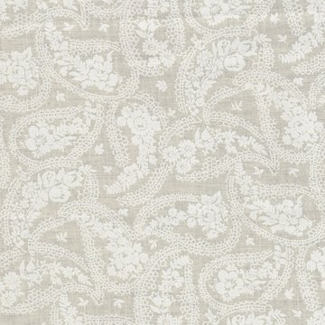 Basic collectie ecru met wit paisley