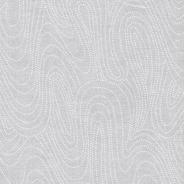 Marcus Fabrics wit met wit stipje