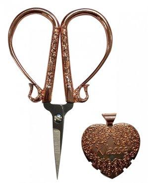 Luxe set van borduurschaar en draad afsnijder rosé goud