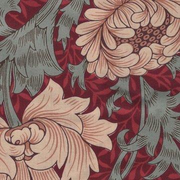 Free Spirit / Morris & co. Merton rood grote bloem