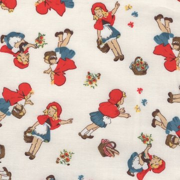 Windham Fabrics Little Red Riding Hood wit met roodkapje