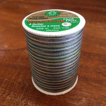 Coats Dual Duty verloopgaren kleur 887 multi blauw/groen