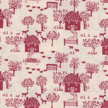 Liberty London The cottage garden ecru huisjes
