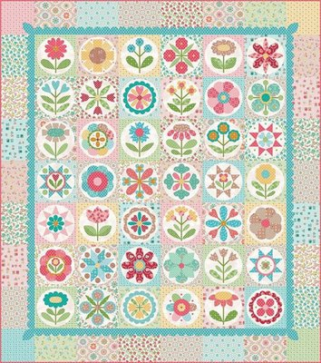 Granny Garden quilt Kit (193x218cm) van Lori Holt