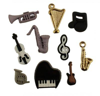 knoopjes thema muziekinstrumenten