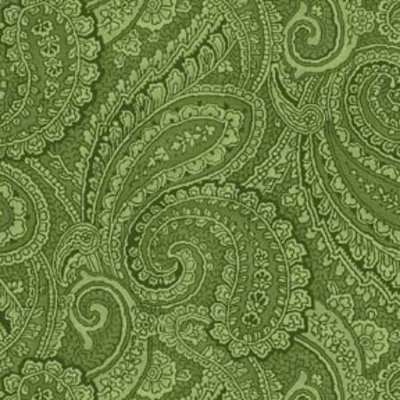 Wilmington Prints Green Paisley