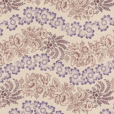 Windham Fabrics Edith ecru met golvende streep in bruin