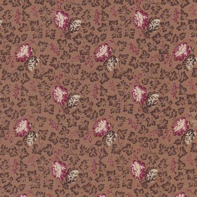Windham Fabrics Edith bruin met ecru roos