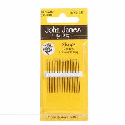 John James naainaalden (sharps) maat 10
