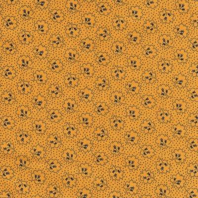 Penny Rose Fabrics Cheddar and Indigo geel met blauw werkje