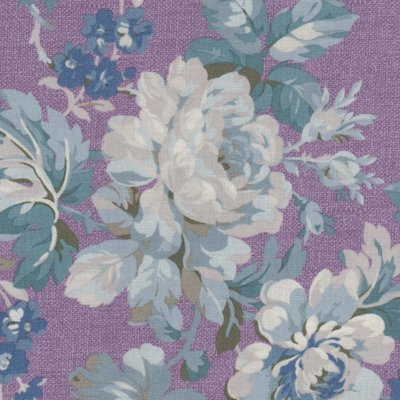 Windham Fabrics Chambray Rose paars grote bloem