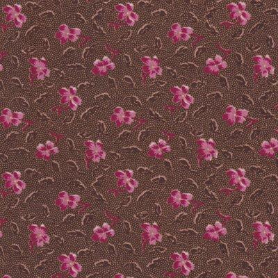 Penny Rose Fabrics Samantha bruin roze bloemetje