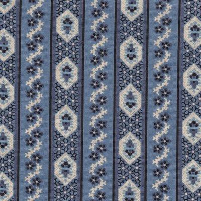 Marcus Fabrics Border Companions blauwe streep