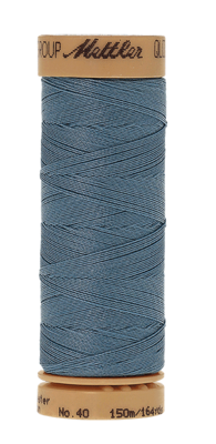 Mettler Quilting Waxed 0901 middelblauw