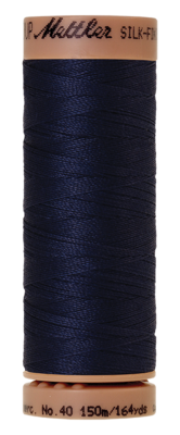 Mettler Silk Finish Cotton 40, 0825 navy