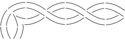 Quilt Stencil Cable Border