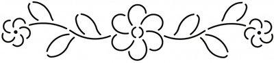 Quilt Stencil Flower Border