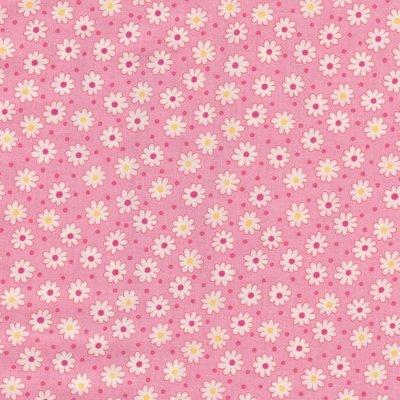 Lecien Retro 30's roze met witte bloemetjes