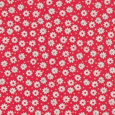 Lecien Retro 30's rood met witte bloemetjes