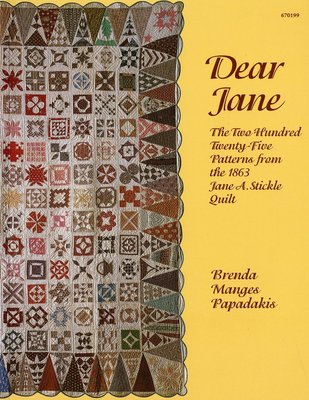 Dear Jane, Brenda Manges Papadakis